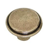 Hi Line HL19.6430.68, 30mm Antique Brass Knob, Antique Brass