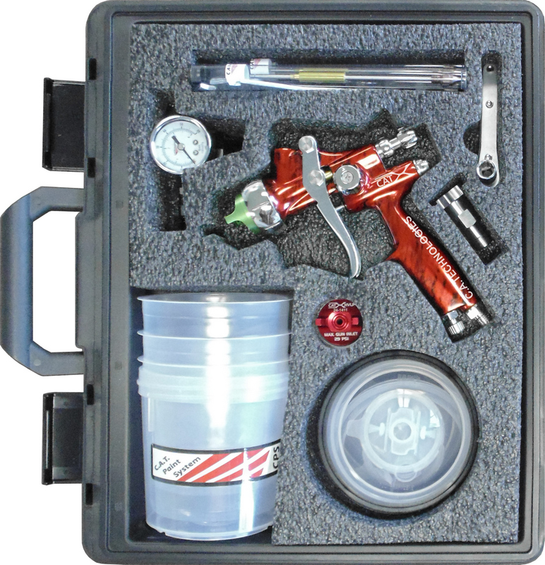 CA Tech CPCAT-X-F-M-PPS, CAT-X Extreme HVLP Compliant Kit, Red Marble Handle PPS Setup