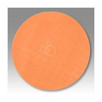 3M 51141274898 Abrasive Discs, Trizact Film, 5in, No Hole, Hook & Loop, Orange