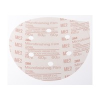 3M 51144808175 Abrasive Discs, Microning Film, 6in 6-Hole PSA, 60 Micron