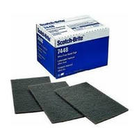3M 48011140490 Abrasive Hand Pads, Non-Woven, Gray - Ultra Fineing, 6 x 9in