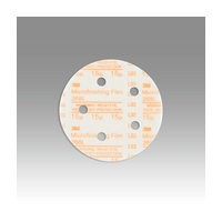 3M 51111545393 Abrasive Discs, Microning Film, 5in 5-Hole Hook & Loop, 15 Micron