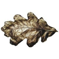 Notting Hill NHBP-844-AB, Oak Leaf Bin Pull in Antique Brass, Leaves