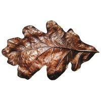 Notting Hill NHBP-844-AC, Oak Leaf Bin Pull in Antique Copper, Leaves
