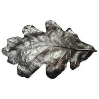 Notting Hill NHBP-844-AP, Oak Leaf Bin Pull in Antique Pewter, Leaves