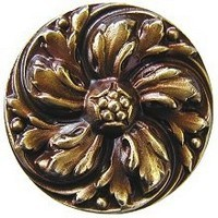 Notting Hill NHK-100-AB, Chrysanthemum Knob in Antique Brass, English Garden