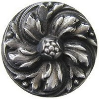 Notting Hill NHK-100-AP, Chrysanthemum Knob in Antique Pewter, English Garden