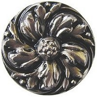 Notting Hill NHK-100-SN, Chrysanthemum Knob in Satin Nickel, English Garden