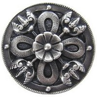 Notting Hill NHK-103-AP, Celtic Shield Knob in Antique Pewter, Jewel