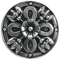 Notting Hill NHK-103-BN, Celtic Shield Knob in Brite Nickel, Jewel