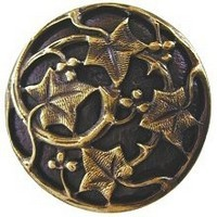 Notting Hill NHK-105-AB, Ivy With Berries Knob in Antique Brass, Leaves