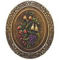 Notting Hill NHK-113-BHT, Fruit Bouquet Knob in Hand-Tinted Antique Brass, Tuscan
