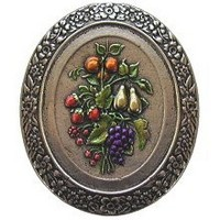 Notting Hill NHK-113-BNHT, Fruit Bouquet Knob in Hand-Tinted Brite Nickel, Tuscan