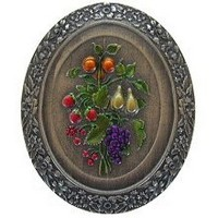 Notting Hill NHK-113-PHT, Fruit Bouquet Knob in Hand-Tinted Antique Pewter, Tuscan