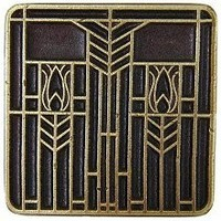 Notting Hill NHK-117-AB, Prairie Tulips Knob in Antique Brass, Arts & Crafts