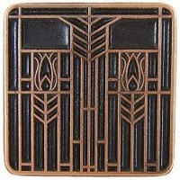 Notting Hill NHK-117-AC, Prairie Tulips Knob in Antique Copper, Arts & Crafts