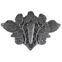 Notting Hill NHK-120-AP, Cicada On Leaves Knob in Antique Pewter, All Creatures