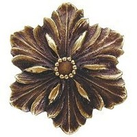 Notting Hill NHK-125-AB, Opulent Flower Knob in Antique Brass, Classic