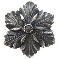 Notting Hill NHK-125-AP, Opulent Flower Knob in Antique Pewter, Classic