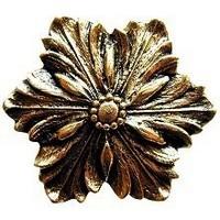 Notting Hill NHK-125-BB, Opulent Flower Knob in Brite Brass, Classic