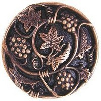 Notting Hill NHK-129-AC, Grapevines Knob in Antique Copper, Tuscan