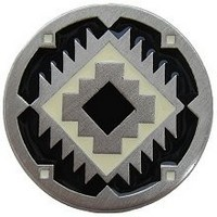 Notting Hill NHK-132-AP-C, Navajo Treasure Knob in Antique Pewter/Cream, Great Outdoors