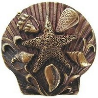 Notting Hill NHK-134-AB, Seaside Collage Knob in Antique Brass, Tropical