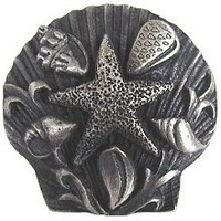 Notting Hill NHK-134-AP, Seaside Collage Knob in Antique Pewter, Tropical