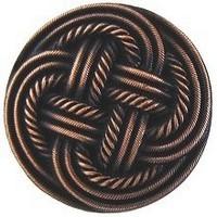 Notting Hill NHK-139-AC, Classic Weave Knob in Antique Copper, Classic