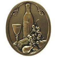 Notting Hill NHK-140-BB, Best Cellar (Wine) Knob in Brite Brass, Tuscan