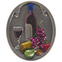 Notting Hill NHK-140-PHT, Best Cellar (Wine) Knob in Hand-Tinted Antique Pewter, Tuscan