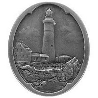 Notting Hill NHK-142-AP, Guiding Lighthouse Knob in Antique Pewter, Tropical