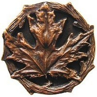 Notting Hill NHK-146-AC, Maple Leaf Knob in Antique Copper, Leaves
