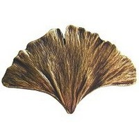 Notting Hill NHK-147-AB, Gingko Leaf Knob in Antique Brass, Leaves