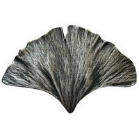 Notting Hill NHK-147-AP, Gingko Leaf Knob in Antique Pewter, Leaves