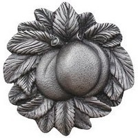 Notting Hill NHK-154-AP, Georgia Peach Knob in Antique Pewter, Kitchen Garden