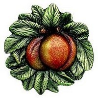 Notting Hill NHK-154-PHT, Georgia Peach Knob in Hand-Tinted Antique Pewter, Kitchen Garden