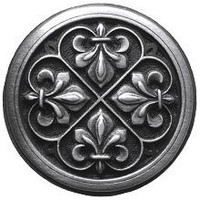 Notting Hill NHK-160-AP, Fleur-De-Lis Knob in Antique Pewter, Olde World