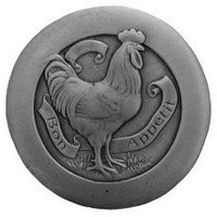Notting Hill NHK-167-AP, Rooster Knob in Antique Pewter, All Creatures