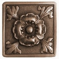 Notting Hill NHK-175-AB, Poppy Knob in Antique Brass, English Garden