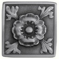 Notting Hill NHK-175-AP, Poppy Knob in Antique Pewter, English Garden