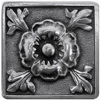 Notting Hill NHK-175-BP, Poppy Knob in Brilliant Pewter , English Garden