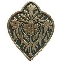 Notting Hill NHK-178-AB-C, Dianthus Knob in Antique Brass/Sage, English Garden
