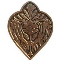 Notting Hill NHK-178-AB, Dianthus Knob in Antique Brass, English Garden
