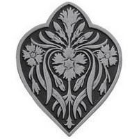 Notting Hill NHK-178-AP, Dianthus Knob in Antique Pewter, English Garden