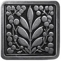 Notting Hill NHK-179-BP, Mountain Ash Knob in Brilliant Pewter , English Garden