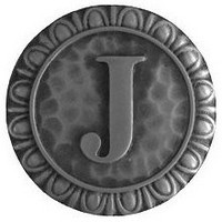 Notting Hill NHK-189-AP, Initial J Knob in Antique Pewter, Jewel