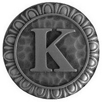 Notting Hill NHK-190-AP, Initial K Knob in Antique Pewter, Jewel