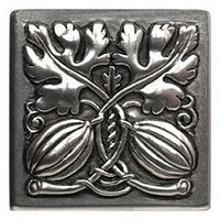 Notting Hill NHK-251-BP, Autumn Squash Knob in Brilliant Pewter , Kitchen Garden