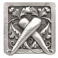 Notting Hill NHK-252-AP, Leafy Carrot Knob in Antique Pewter, Kitchen Garden